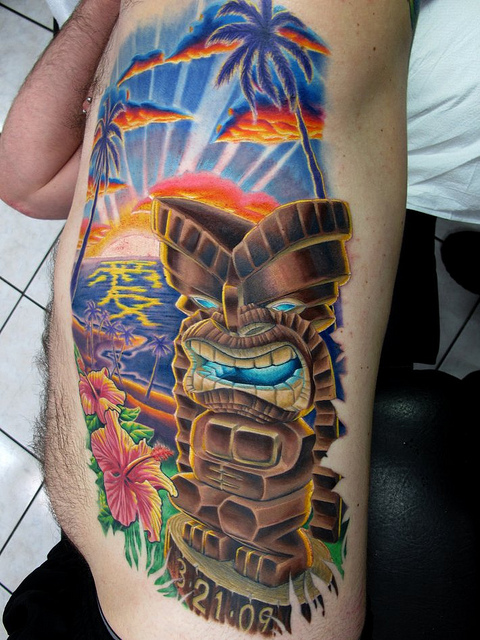 2012 tattoos chris black for Polynesian tiki tattoo